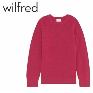 Wilfred Free | Wool Constance Sweater in Pink - Size XS